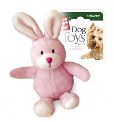 75119 Игрушка для собак gigwi Зайка с пищалкой