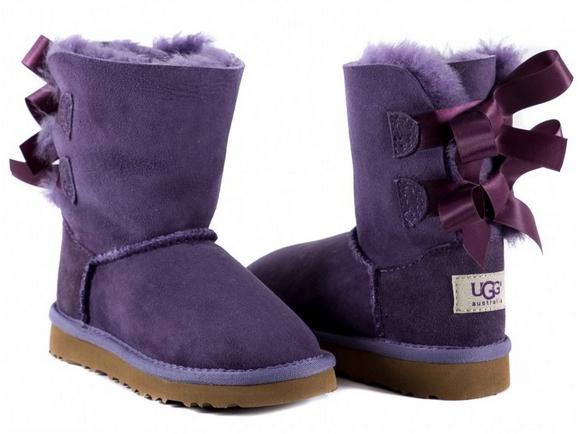 Ugg Kids Bailey Bow Purple