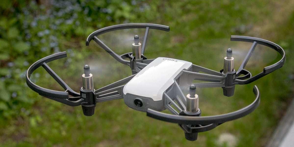 Квадрокоптер DJI Tello Boost Combo (Global) в полете