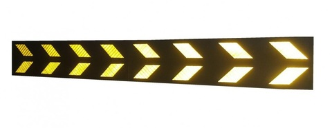 Световозвращающий отбойник (мат) на стену Толщина 8 мм Размер 780х200 мм