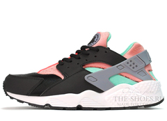 Кроссовки Женские Nike Air Huarache Black Grey Pink Mint