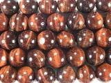 Нить бусин из бычьего глаза, шар гладкий 10 мм