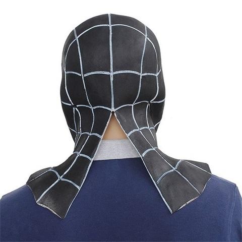 Человек Паук маска латексная Черный симбиот