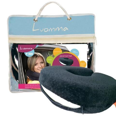 Подушка ортопедическая с эффектом памяти для путешествий LumF-508 LUMF-508