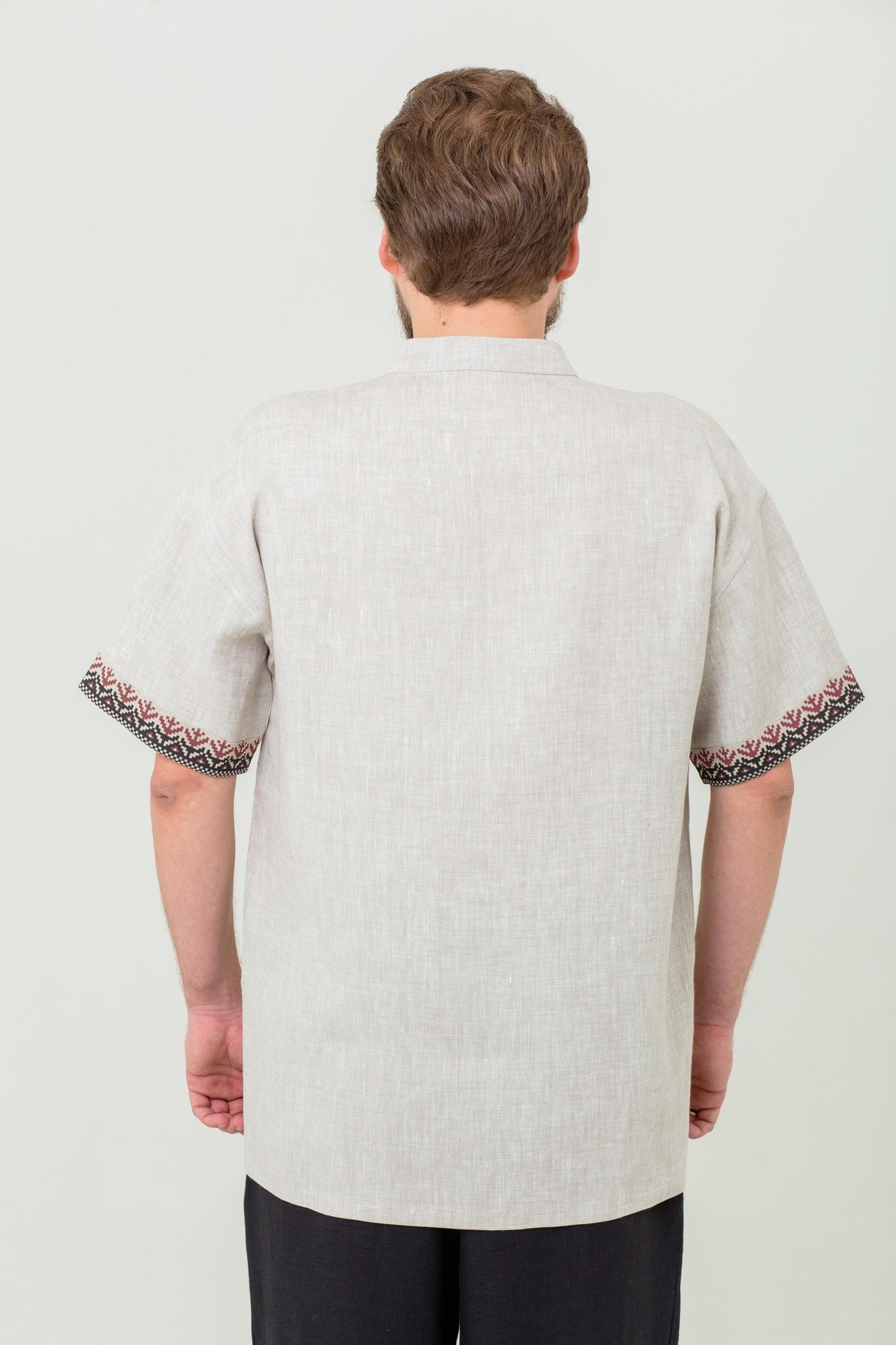 Мужская льняная рубаха Степная славянская