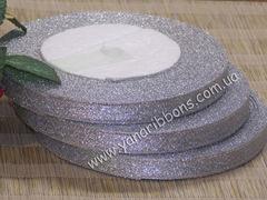 Лента парча серебрянная  1 см шириной
