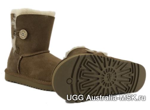 UGG Kids Bailey Button Chestnut