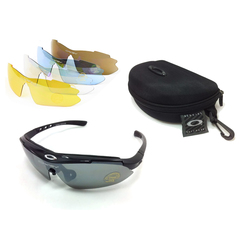 Тактические очки OAKLEY (5 сменных линз) Черная оправа