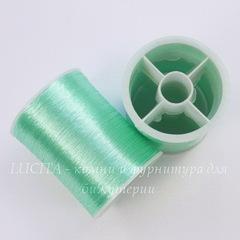 Нить металлизированная для вышивки бисером, 0,1 мм, цвет - ментоловый, примерно 55 м