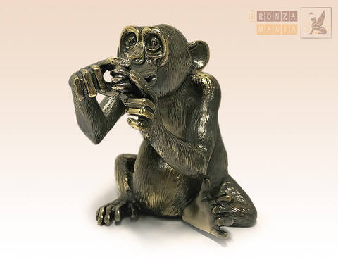 статуэтка Обезьяна - Не скажу