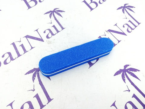 Пилка-баф малая 100/180 синяя, прямая