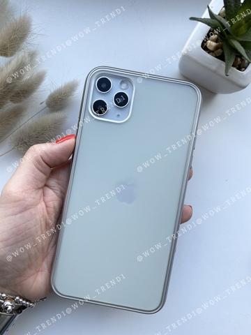 Чехол iPhone 11 Pro Shining Matte Case /silver/