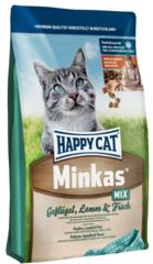 Happy Cat Minkas Mix c птицей, ягненком и рыбой