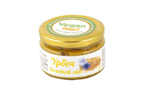 Урбеч из семян золотого льна Vegan Food, 200 гр