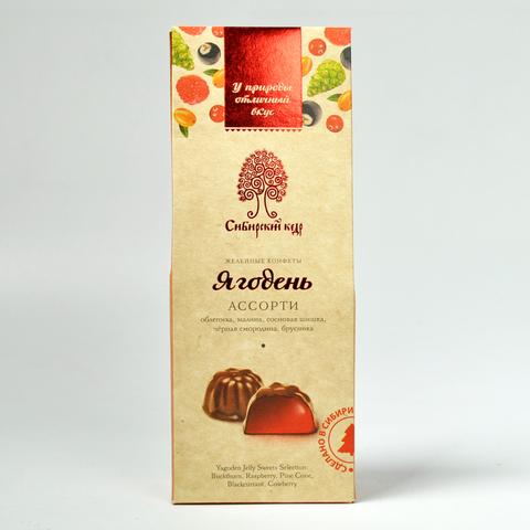 Желейные конфеты Ягодень Сибирский Кедр  ассорти 85г