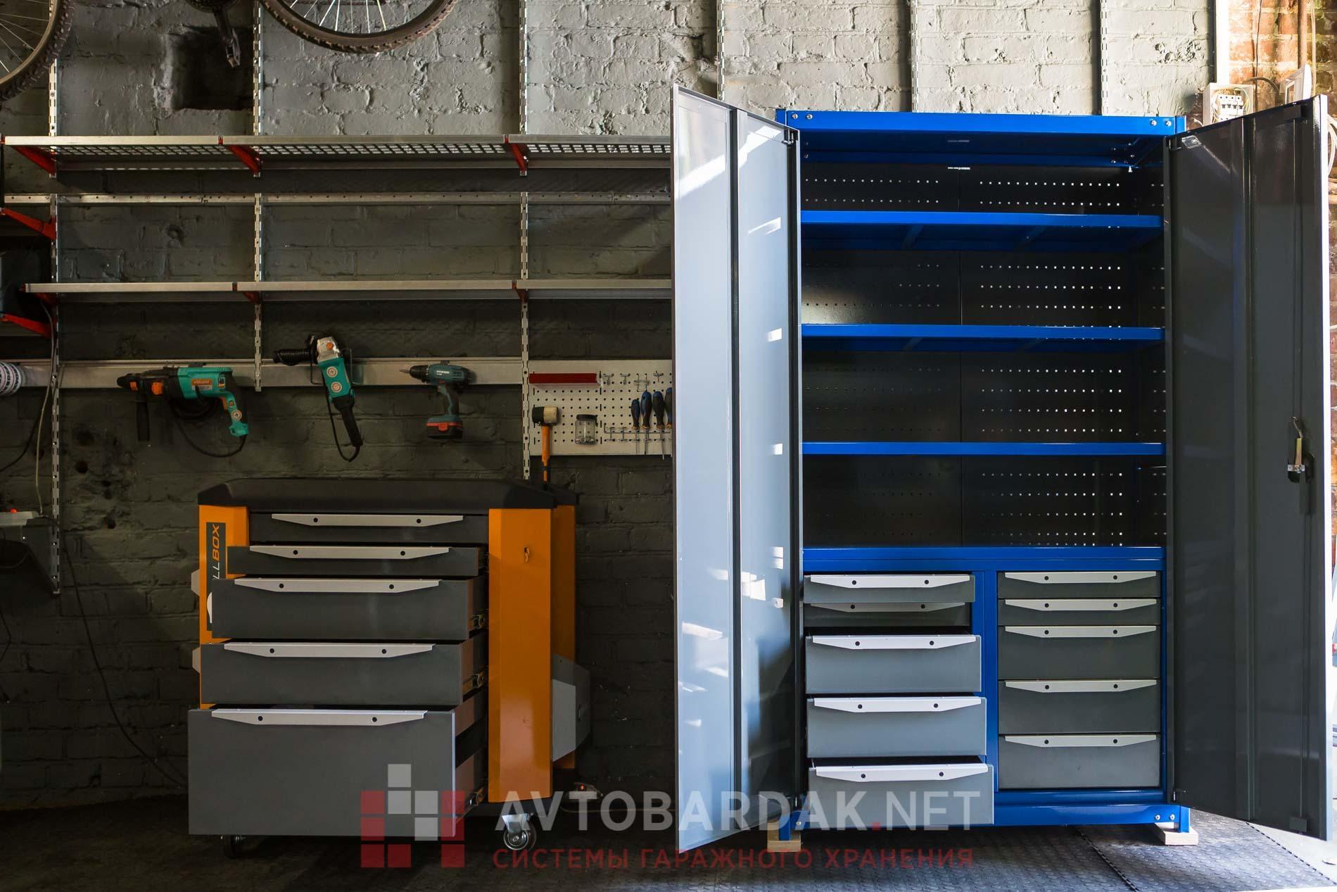Подкатной стеллаж для инструмента с 5 выдвижными ящиками, серия Premium