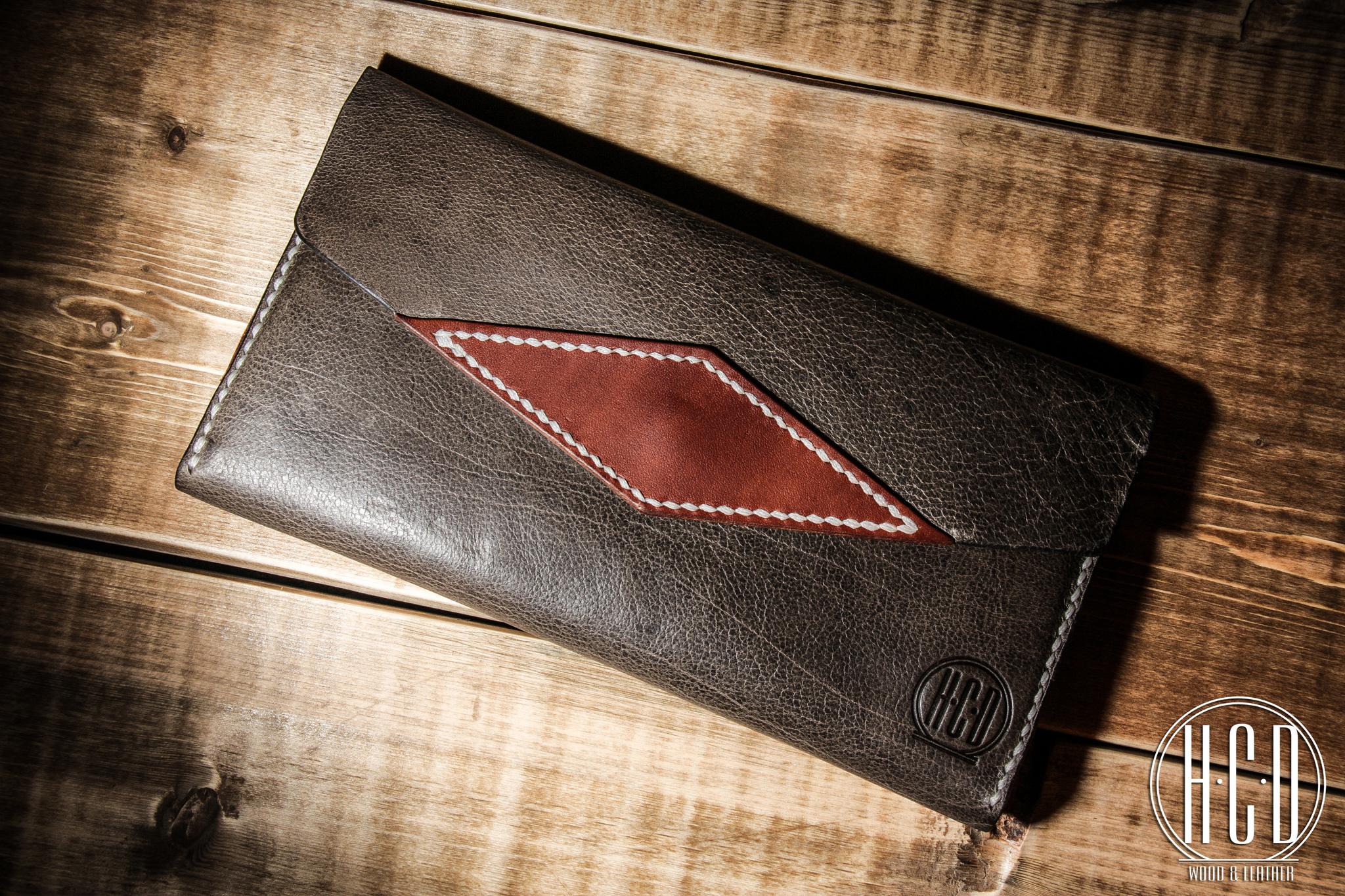 Кожаный клатч - портмоне