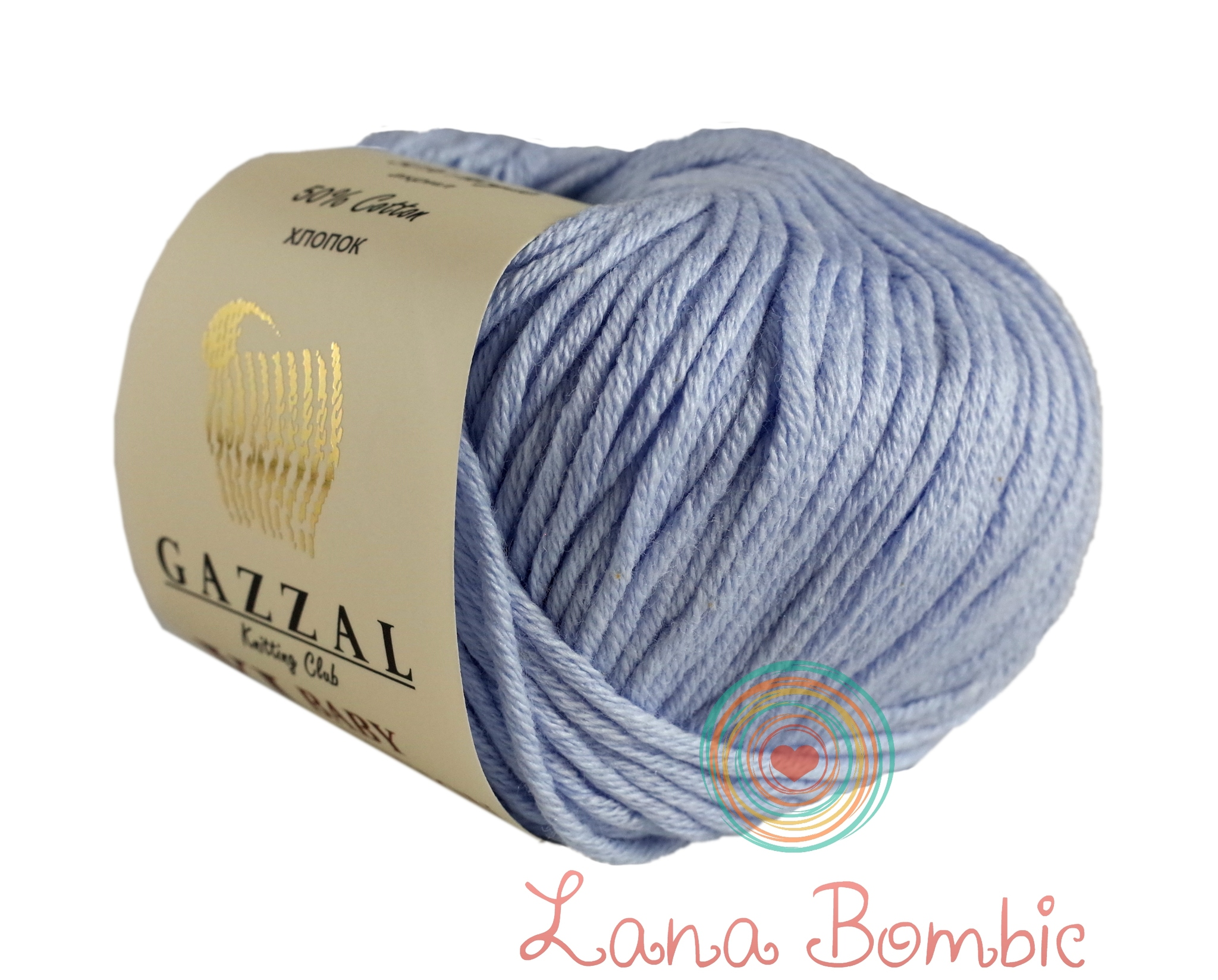 Пряжа Gazzal Baby Cotton XL нежно-голубой 3429