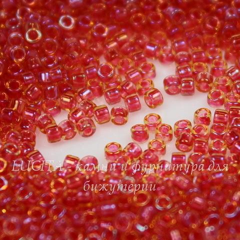 0241 Бисер японский TOHO Treasure 11/0, радужный св.топаз c лиловым окрасом изнутри