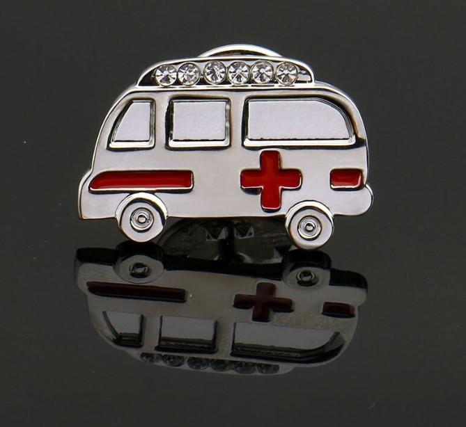 Брошь Скорая помощь (серебряный цвет)