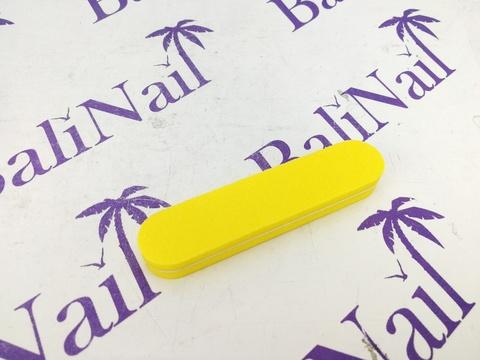 Пилка-баф малая 100/180 желтая, прямая