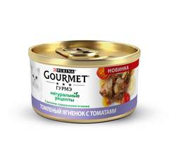 Gourmet Gold Натуральные рецепты томленый ягненок с томатами 85 г