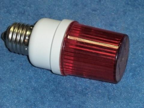 Строб лампа красная Е27