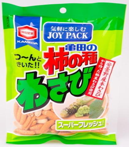 Снэк «Wasabi Kakinotane» из рисовой муки со вкусом «васаби» и арахиса