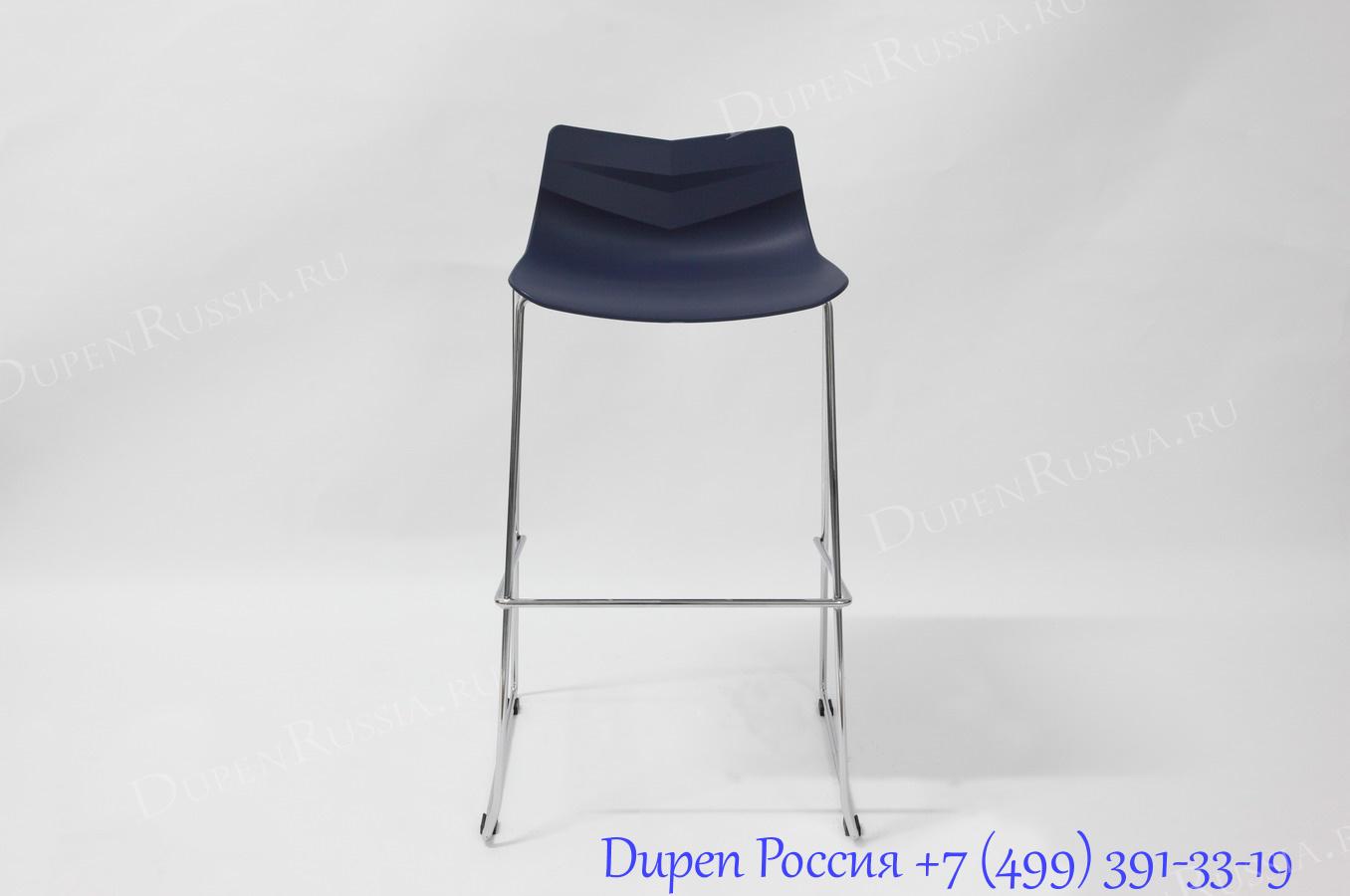 Стул барный LEAF-06 синий