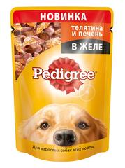 Pedigree для взрослых собак с телятиной и печенью 100 г