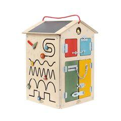 Бизиборд Занятный дом Деревянный Т010
