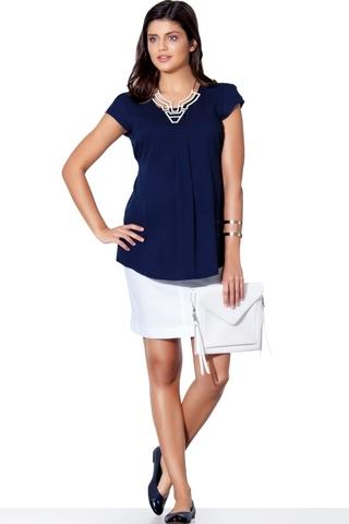 Блузка для беременных 01397 синий
