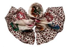 Парео с леопардовым принтом коричневое 0331