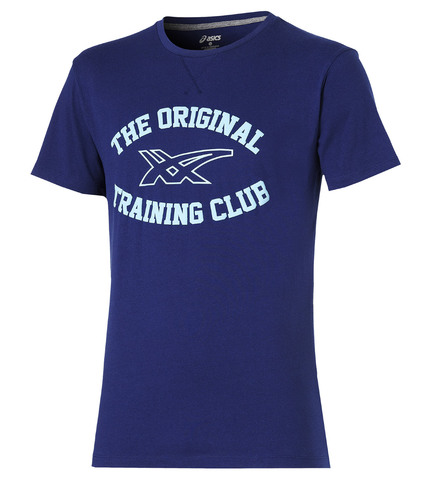 Мужская футболка Asics Graphic SS Top (125074 8052) синяя