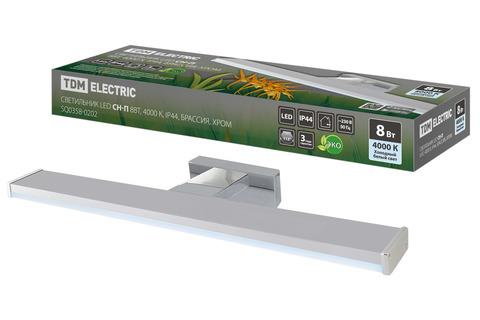 Светильник LED CH-П 8Вт, 4000 К, IP44, Брассия, хром TDM