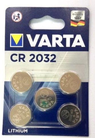 Элемент питания VARTA ELECTRONICS CR2032 кт-5