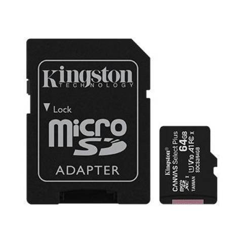 Карта памяти Kingston Canvas Select Plus microSD
