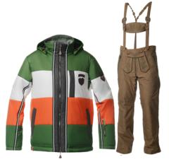 Мужской горнолыжный костюм Almrausch Steinpass-Lois 320109-121136 зеленый