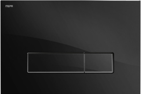 Клавиша смыва Mepa Orbit 421848, черное стекло