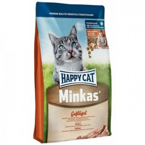 HAPPY CAT ADULT MINKAS С ПТИЦЕЙ 10 кг