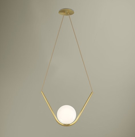 replica light  Perle 1  in Satin Brass by Larose Guyon