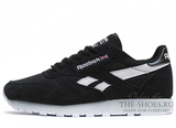 Кроссовки Мужские Reebok Classic Leather Black White