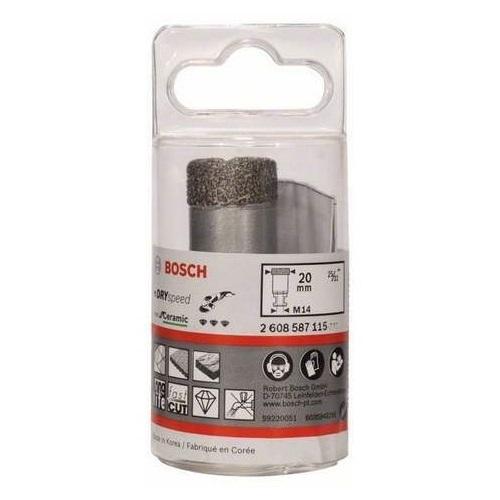 Алмазная коронка Bosch 20 мм сухое сверление для УШМ