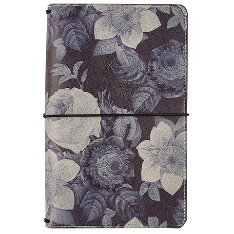 Блокнот- Carpe Diem Traveler's Notebook- Black Vintage Floral, Beautiful