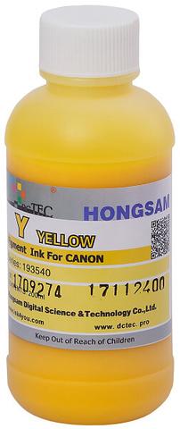 Чернила DCTec PFI-1700Y, PFI-120Y, PFI-320Y желтый (Yellow). 200мл пигмент (193540)