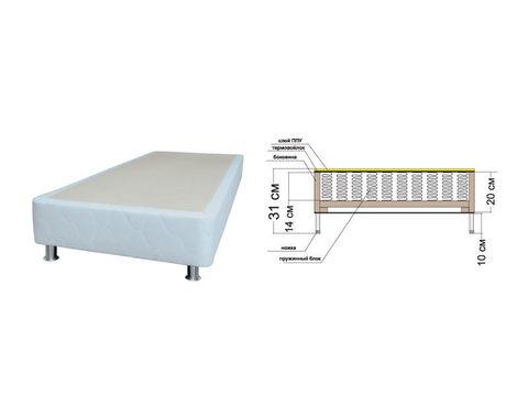 Кровать без изголовья  дома Rest