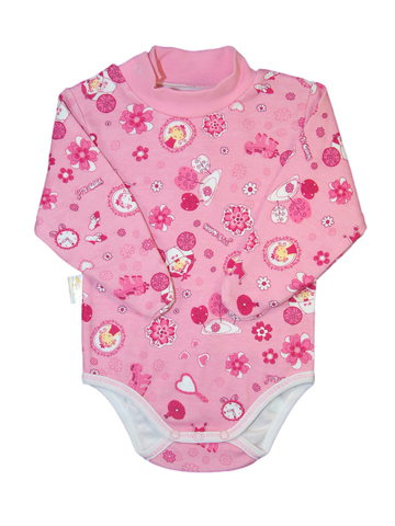 Кофта-боди розовая для девочки фото