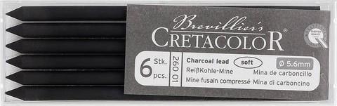 Угольный стержень 5.6 мм, длина 120 мм 6шт, мягкий