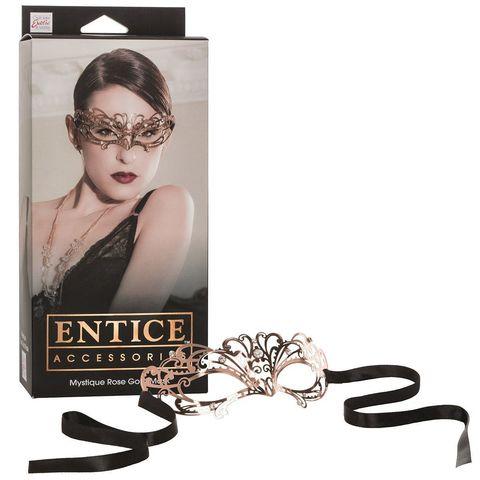 Золотистая маска из никеля с имитацией кристаллов Entice Mystique Mask