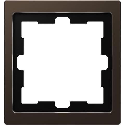 Рамка на 1 пост. Цвет Мокко. Merten D-Life System Design. MTN4010-6552